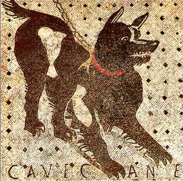 Cave Canem, from the House of the Tragic Poet in Pompeii.